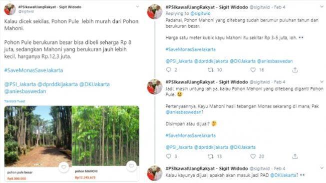 Ribut Revitalisasi Monas, Jubir PSI: Pohon Pule Lebih Murah dari Mahoni
