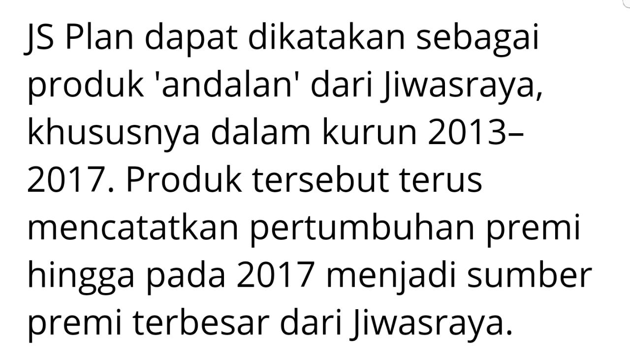 Bukan 17000(Orkay Tamak)JS Plan Tapi 4,7Juta Orang Jiwasraya Tradisional yg Prioritas