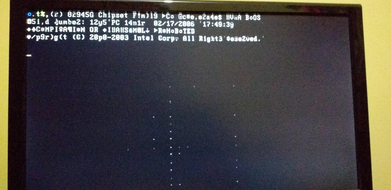 Help---PC gak mau booting, muncul tulisan aneh