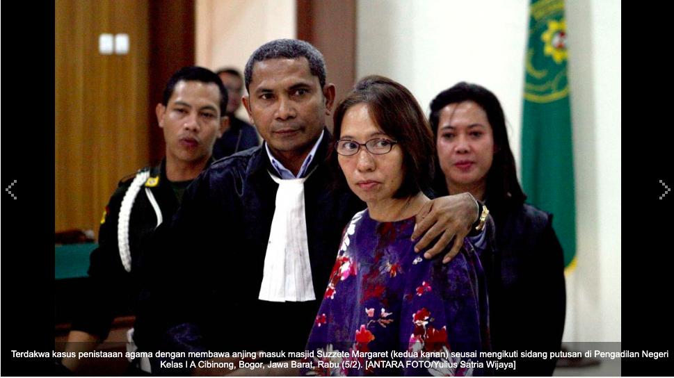 Wanita Pembawa Anjing Masuk Masjid di Bogor Divonis Bebas