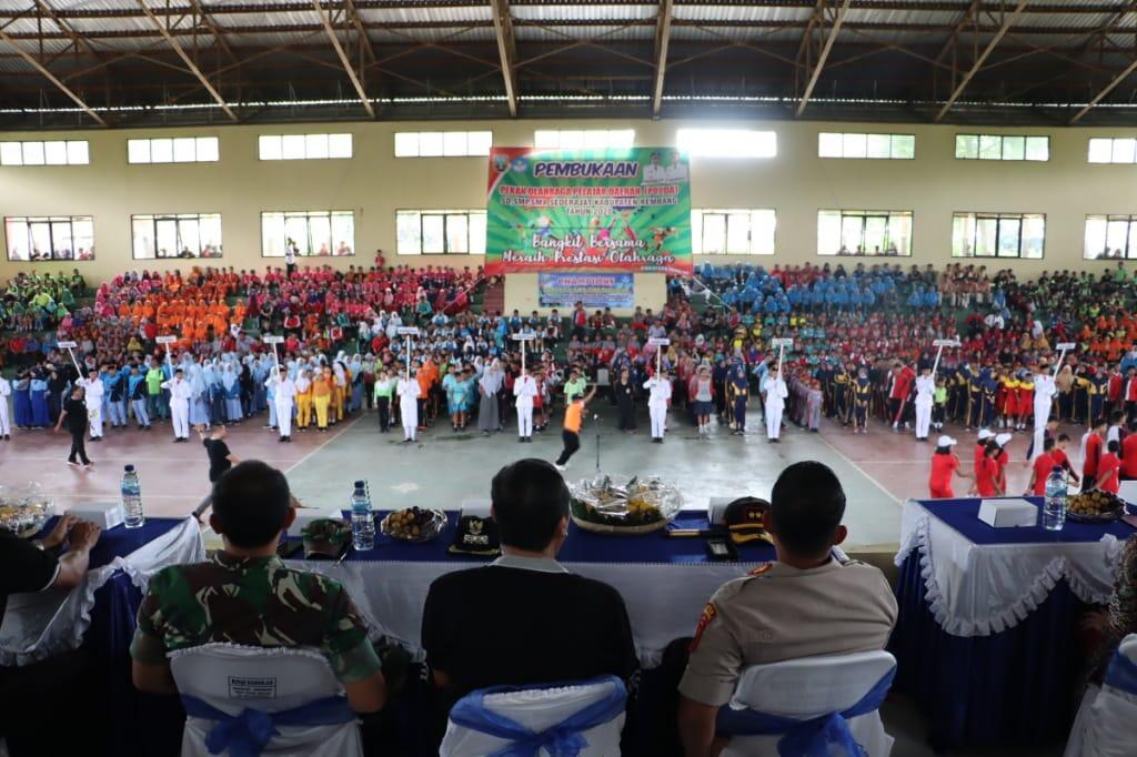 Dandim Rembang hadiri upacara pembukaan POPDA kabupaten Rembang Tahun 2020