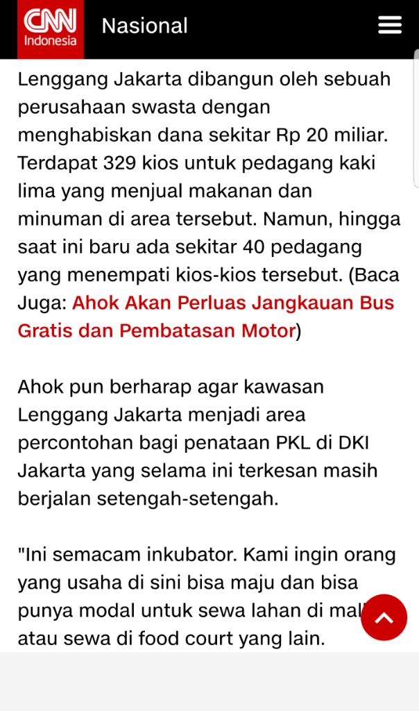 Lenggang Jakarta Hasil CSR 20 Milyar Era Ahok Di Monas Dipindah Dekat Stasiun Gambir