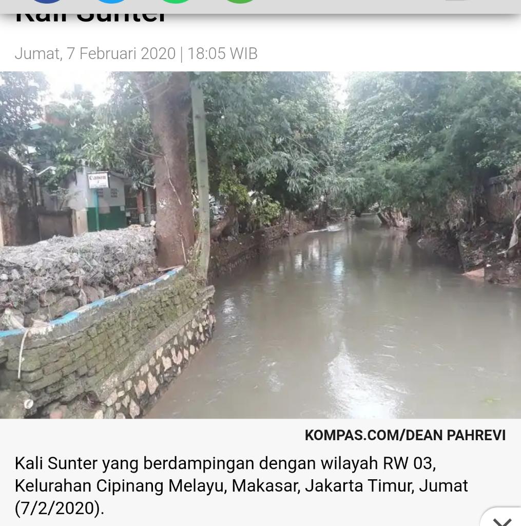 Warga Cipinang Melayu Berharap Anies Segera Normalisasi Kali Sunter