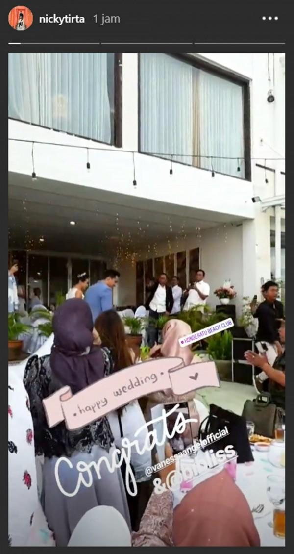 10 Momen Resepsi Pernikahan Vanessa Angel dan Bibi Ardiansyah di Bali