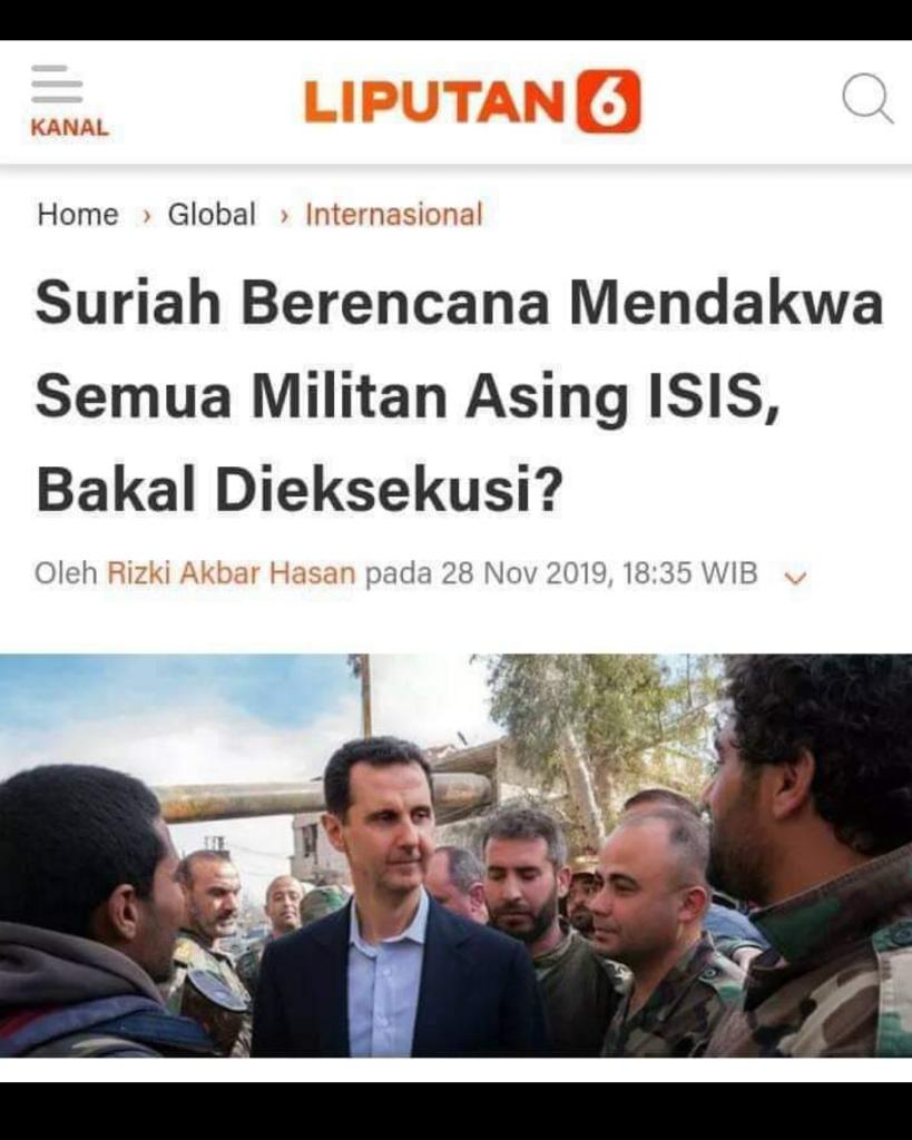eks ISIS Minta Pemerintah Beri Solusi untuk ISIS eks WNI di Suriah