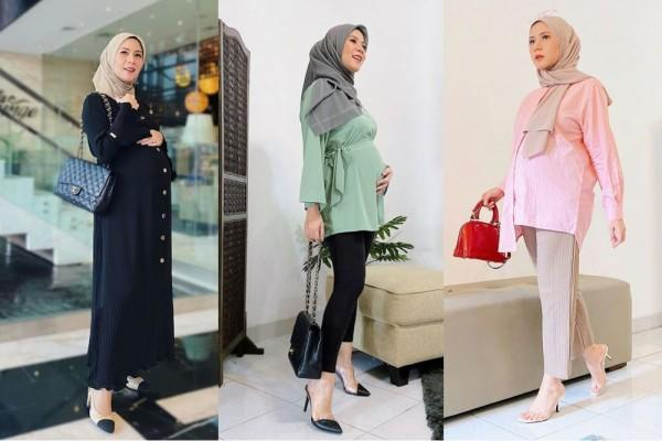 10 Style Hijab Modis dan Nyaman Dipakai Saat Hamil ala Cynthia Ramlan