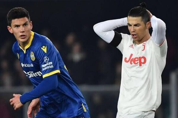 Ronaldo Cetak Rekor, Juventus Justru Tumbang di Markas Hellas Verona