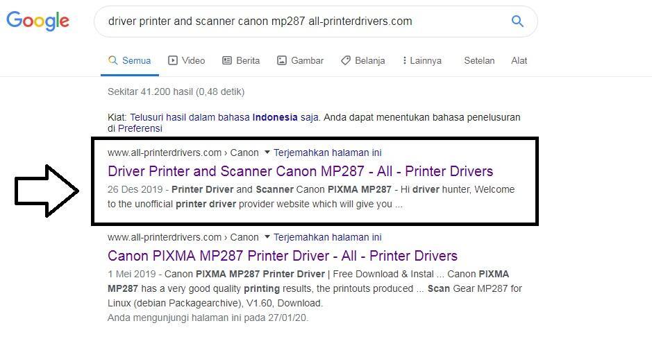 Cara Download Driver Printer Canon MP287 dan Cara Instal