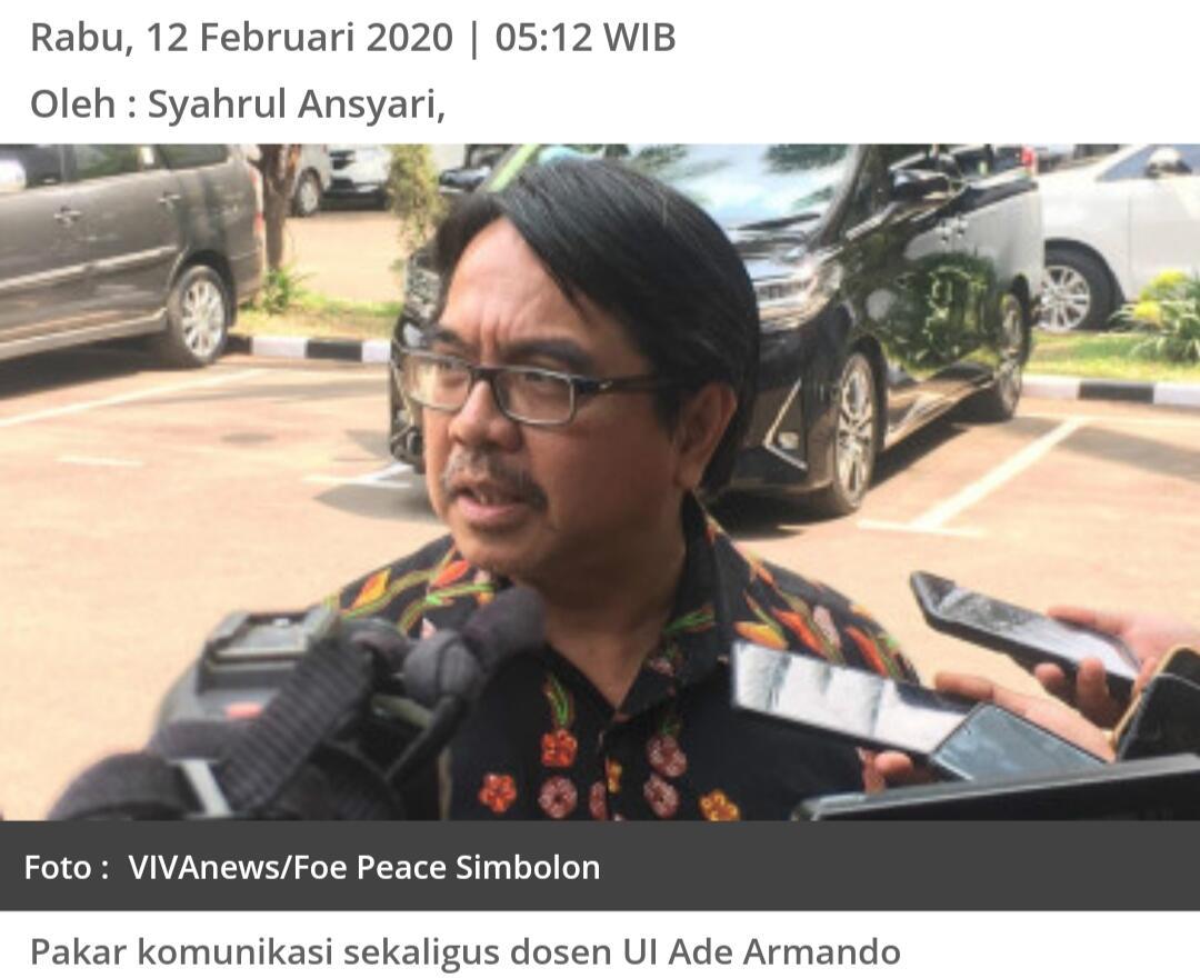 Ade Armando Bongkar Kejahatan FPI: Mereka Minta Perempuan Bule