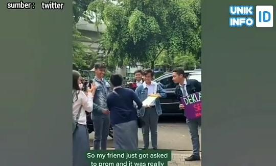 Heboh Video Nembak Cewek di Jalanan, Netijen Galfok Tampang Si Cowok Mirip Dilan!