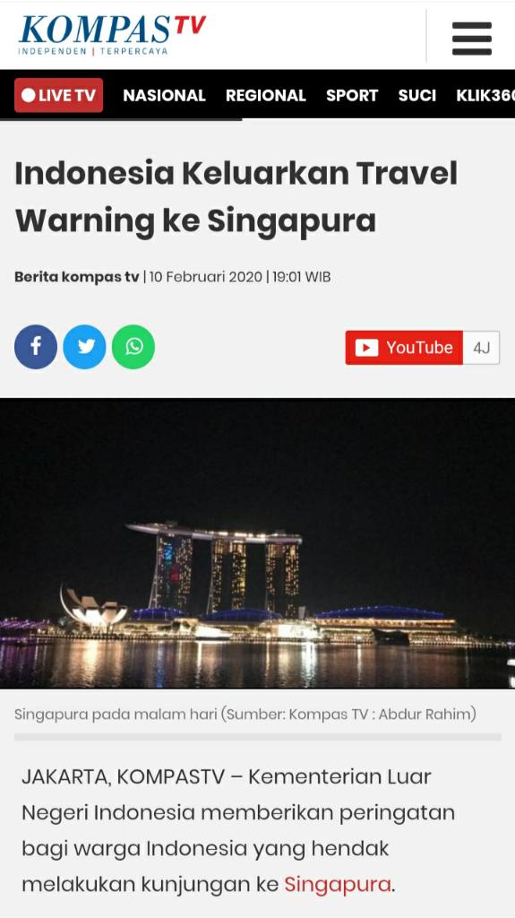 Travel Warning ....