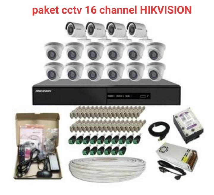 Paket Cctv 16 HIKVISION TURBO HD 2MP 1080P