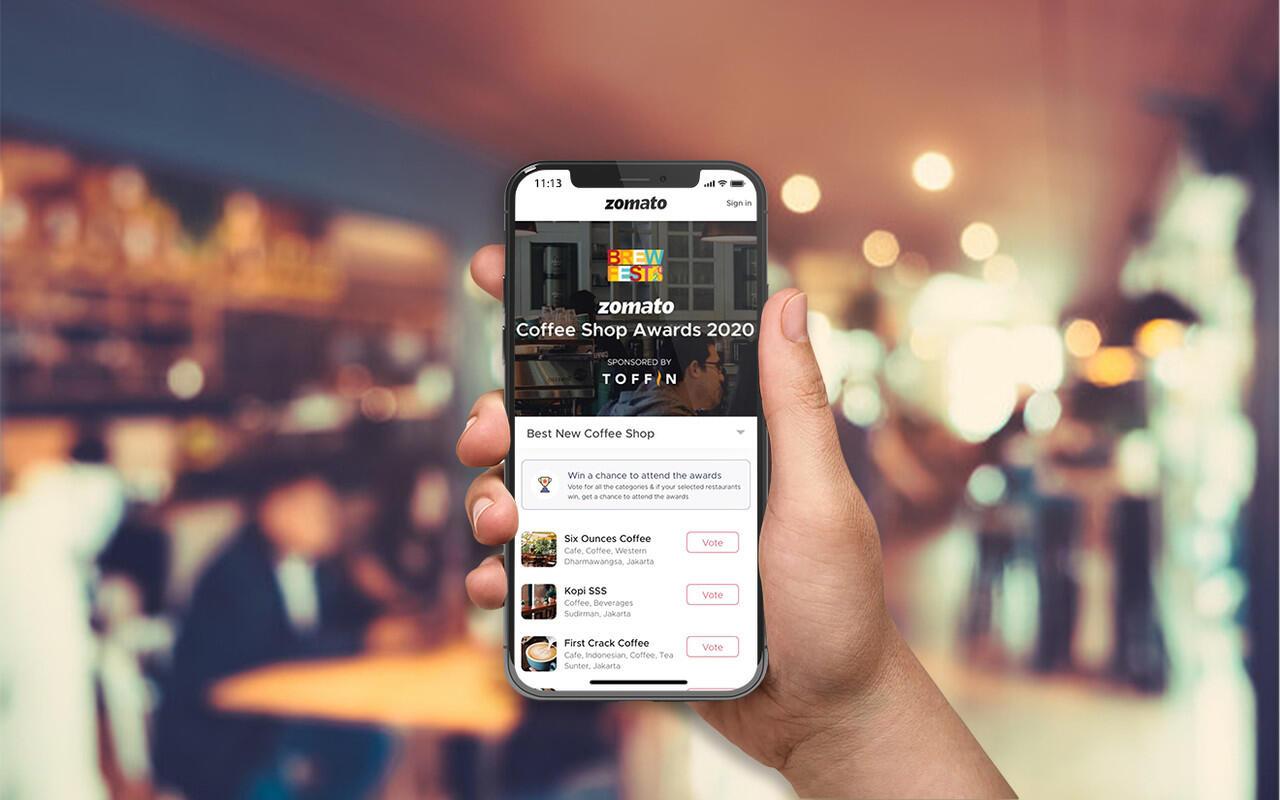 Apresiasi Coffee Shop di Jabodetabek Melalui Zomato Coffee Shop Awards 2020