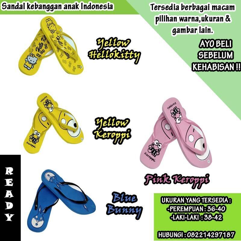 sandal jepit spon murah bergambar