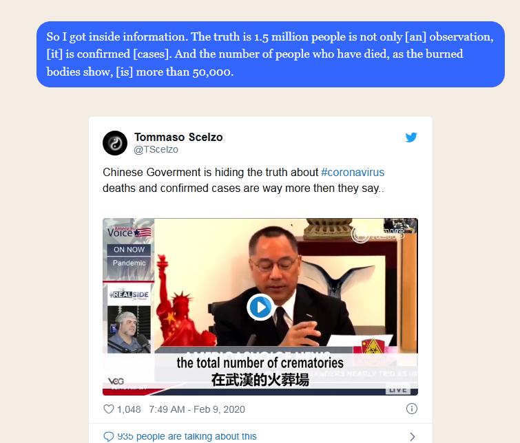 Billionaire Whistleblower: Wuhan Coronavirus Death Toll Is Over 50,000