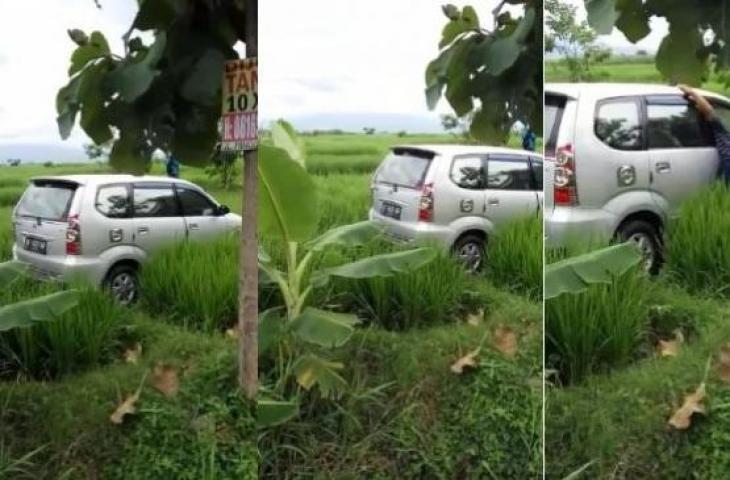 Sempat VIRAL Di Medsos, Mobil Tanpa Jejak Lumpur Tiba-tiba Berada Di Tengah Sawah