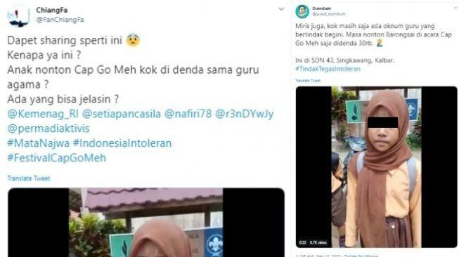 Guru Denda Murid Nonton Cap Go Meh, Sudah Intoleran, Mata Duitan Pula