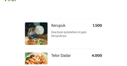 Potret Menu Makanan Nyeleneh di Aplikasi Ojol, Warung Makannya Iseng Banget!