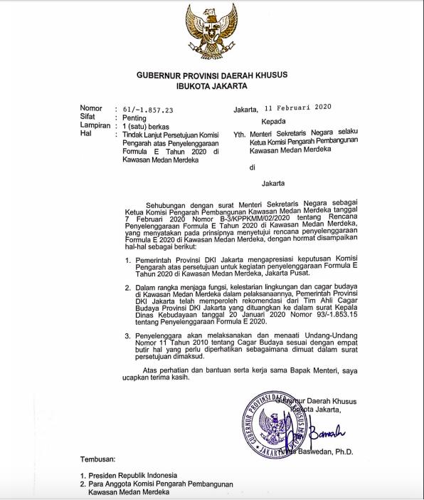 Ini Surat Anies yang Klaim Dapatkan Rekomendasi TACB, Ternyata Dibantah