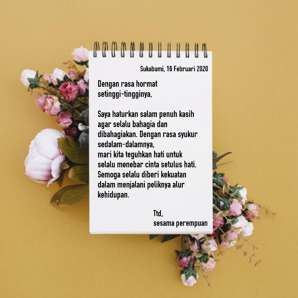 [LOVE LETTER 4] Salam Hormat Sesama Perempuan