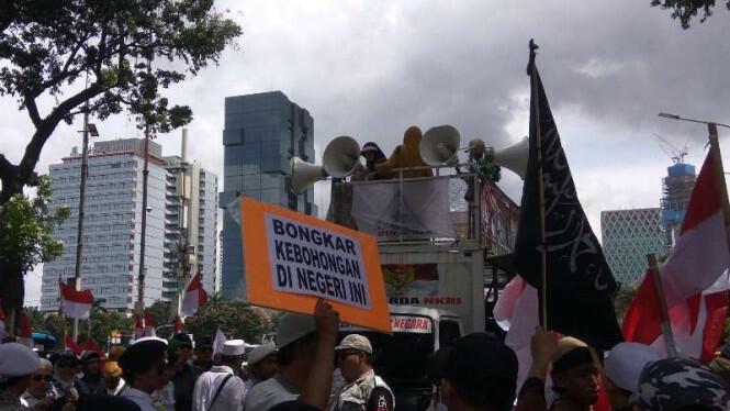 Massa Aksi 212 Tuntut Ahok Mundur dari Komisaris Utama Pertamina