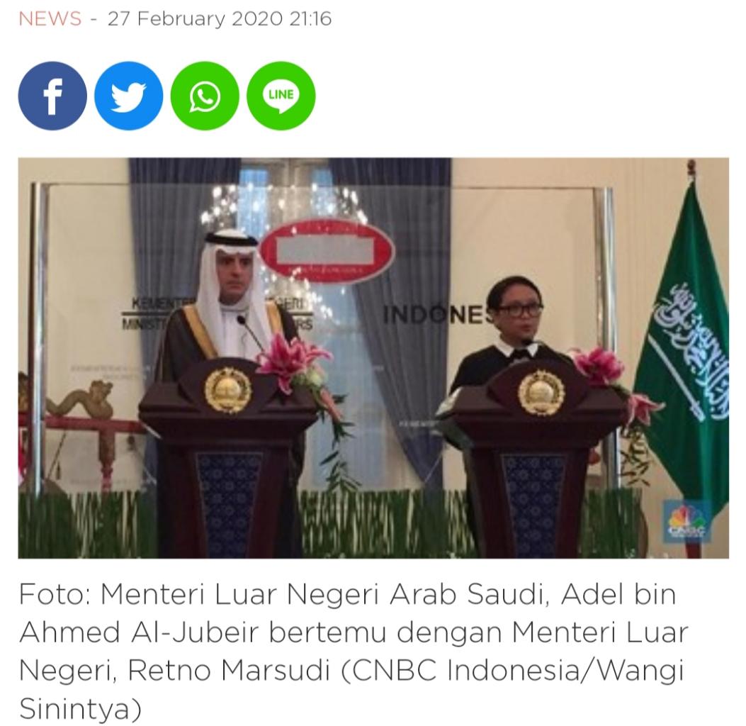 Arab Saudi Masukkan RI Dalam Daftar Negara Terjangkit Corona
