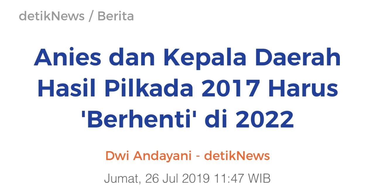 PKPI: Gara-Gara Anies Kerja, Jakarta Malah Banjir. Bersyukurlah Bukan Anies Lagi 2022