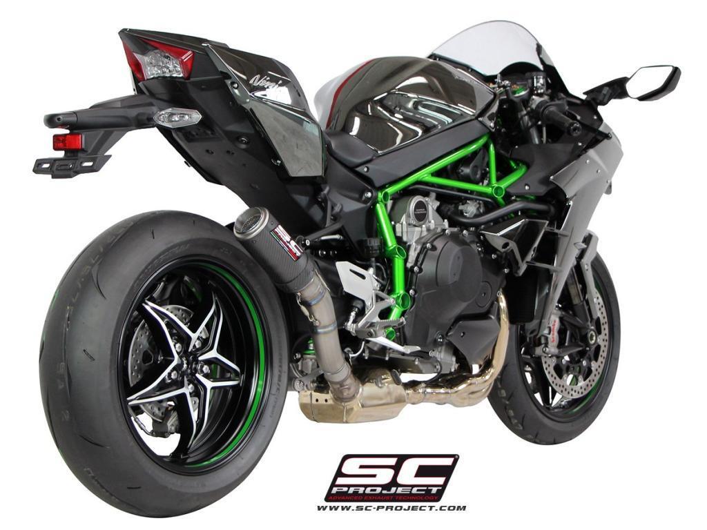 Knalpot SC Project CR-T Khusus Ninja H2... SADIIISSS...