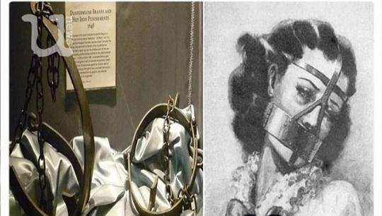 Scold's Bridle, Hukuman Ekstream Untuk Wanita Penggosip! Wajah dan Lidah Ditusuk Paku