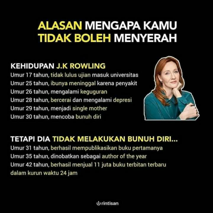 J K Rowling, Penulis Hebat yang Hidup Melarat Hingga Menjadi Wanita Terkaya