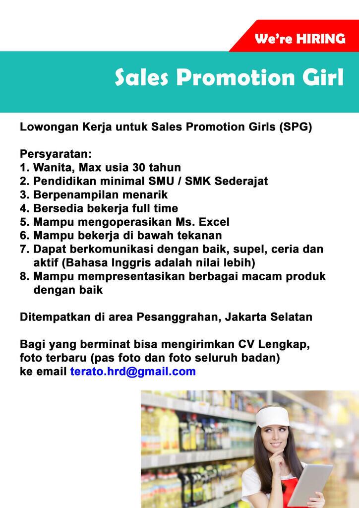 Lowongan Kerja SPG Jakarta Selatan