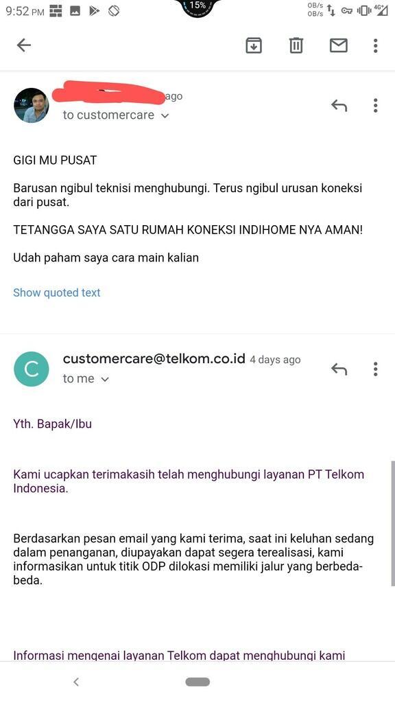 Telkom IndiHome mempermainkan pelanggan