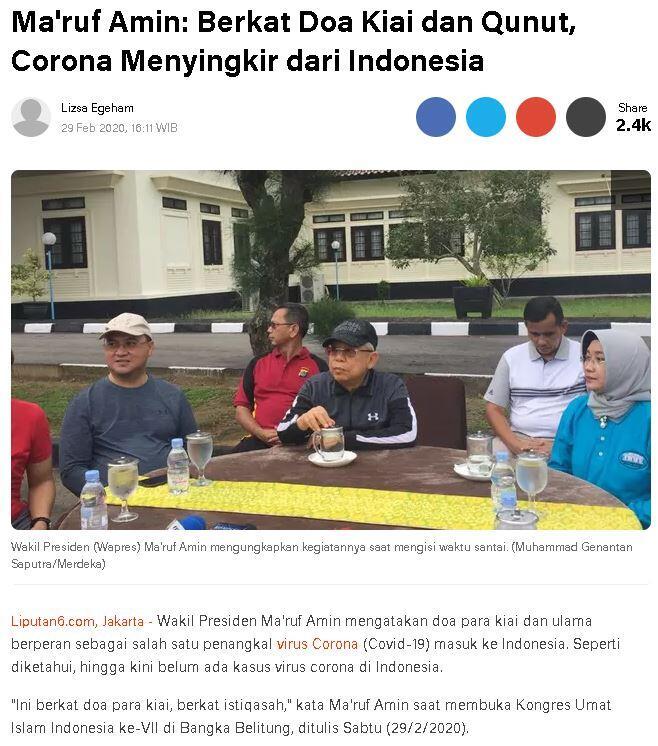 virus corona di indonesia saat ini