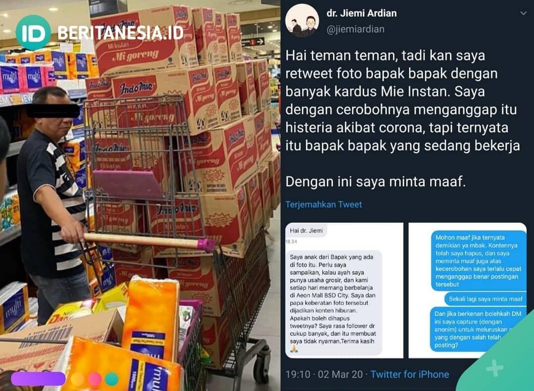Fakta Foto Viral Pria Borong Mie Instan! Benarkah Karena Virus Corona? Cek Dimari!