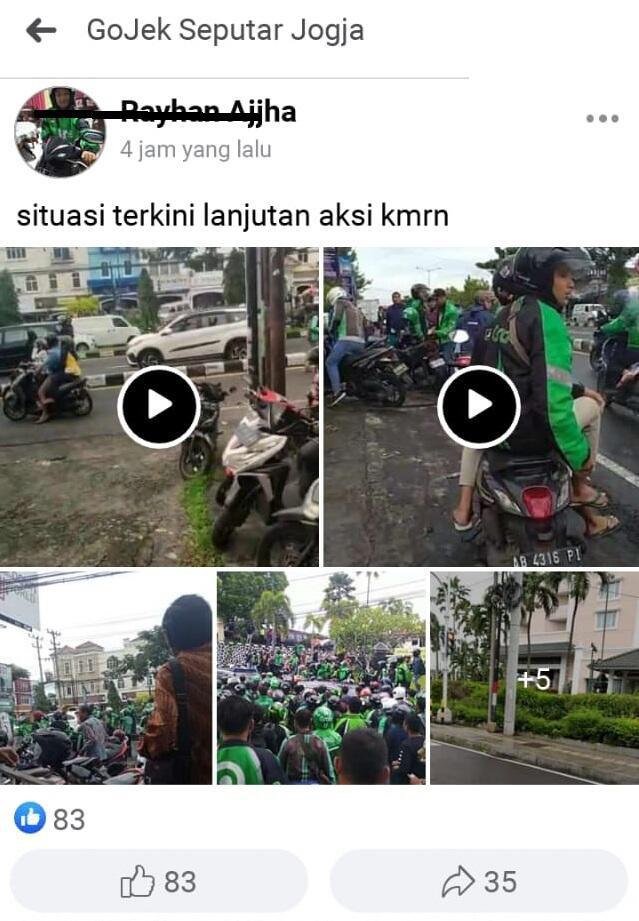 Viral, Kelompok OJOL dan Depkolektor Saling Serang di Sleman, 4 OJOL Luka Bacok