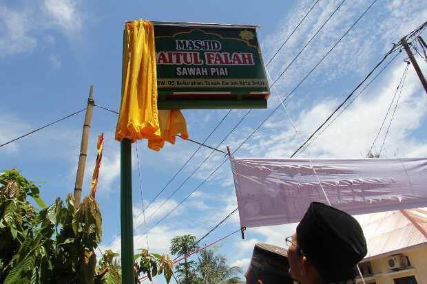 Wali Kota Solok Resmikan Masjid Baitul Falah Sawah Piai