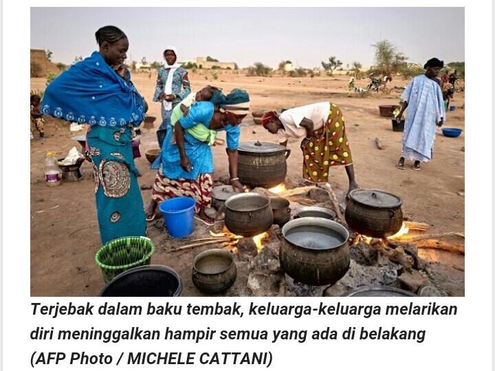 Terperangkap dalam perang Sahel, penduduk desa Mali melarikan diri ke ketidakpastian