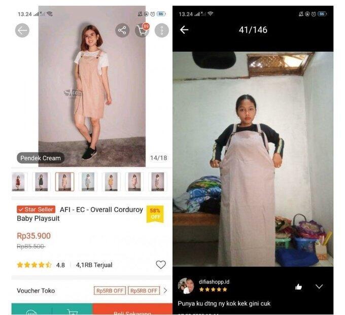 17 Foto Korban Dari Online Shop Bikin Kesel Sekaligus Ngakak