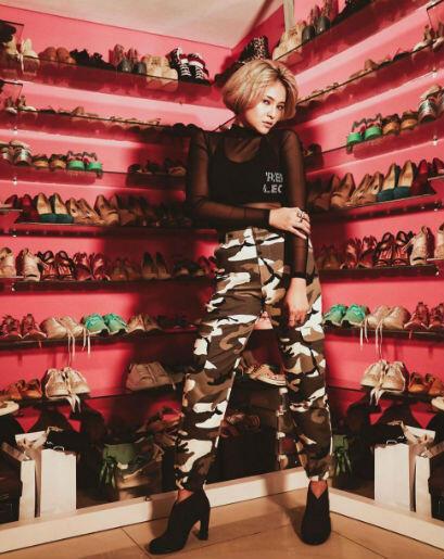 10 Inspirasi Mix and Match Outfit Edgy ala Marshanda