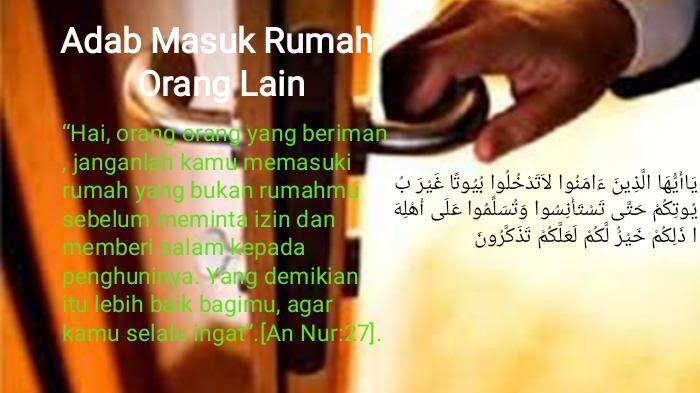 Adab Bertamu atau Masuk Rumah Orang Lain Menurut Imam al-Ghazali