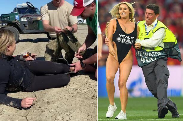Kinsey Wolanski, Wanita Penyusup di Final Liga Champions Alami Kecelakaan