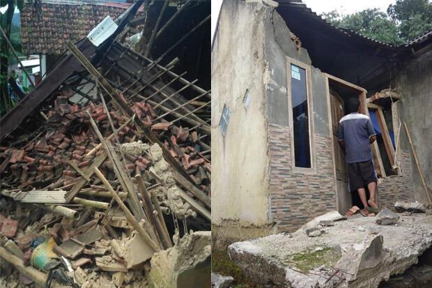 Gempa Sukabumi Rusak Puluhan Rumah di Kabupaten Bogor