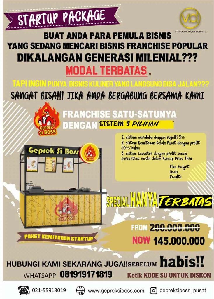 Ingin punya Bisnis langsung bisa jalan? Disini Bisnis Opportunity generasi Milenial!!
