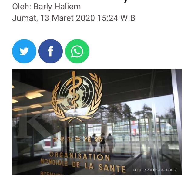 Rekomendasi WHO kepada Indonesia: liburkan sekolah hingga jauhi tempat umum