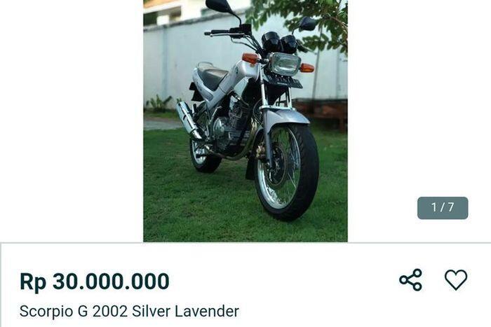 Setelah RX King Terjual 150 Juta, Kali Ini Ada Yamaha Scorpio CBU Harga Puluhan Juta