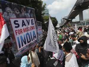 Radical Muslims 'protest' against Delhi riots by waving ISIS flag