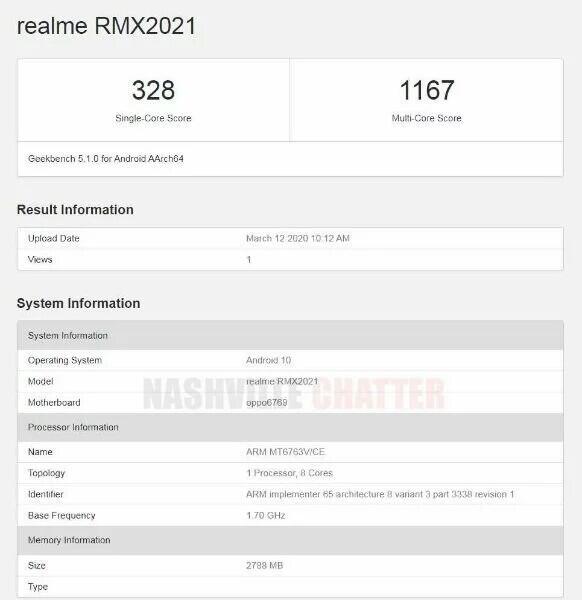 Realme Misterius RMX2021 muncul dengan Helio P23 di Geekbench