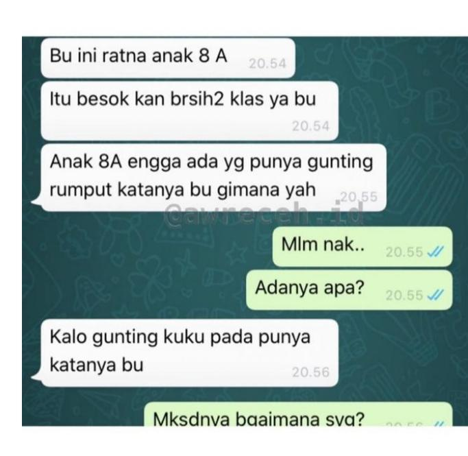 Chat Guru Dan Murid Bikin Ngakak!