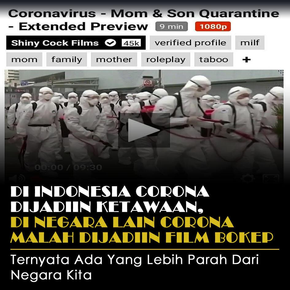 Di Indonesia Corona Dijadiin Ketawaan, Di Negara Lain Corona Malah Jadi Film Bokep