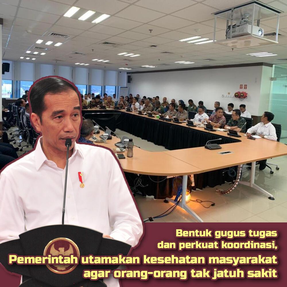 Jokowi Bentuk Gugus Tugas Untuk Penanganan COVID 19